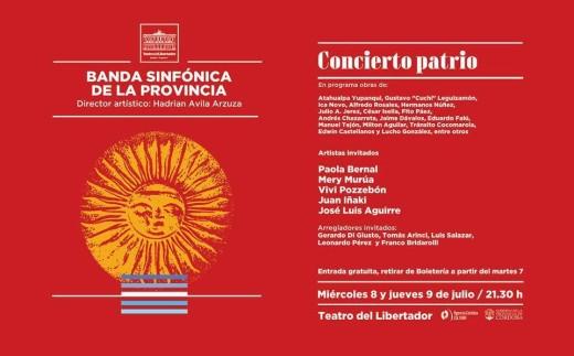 Concierto Patrio con entrada gratuita en el San Martín
