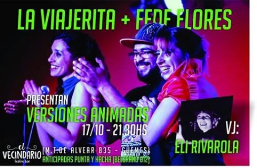 La Viajerita + Fede Flores + Eli Rivarola en vivo