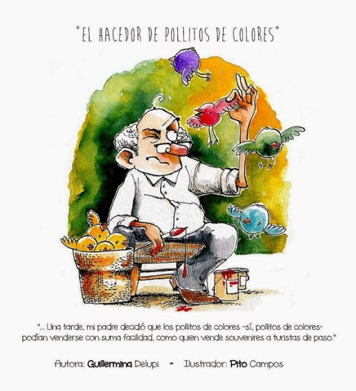 """Guillermina Delupi. """"El hacedor de pollitos de colores"""""""