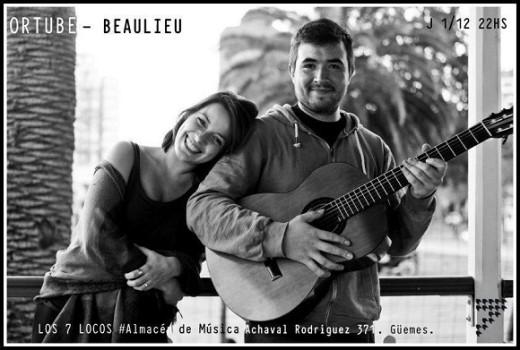 Airena Ortube y Julián Beaulieu en vivo