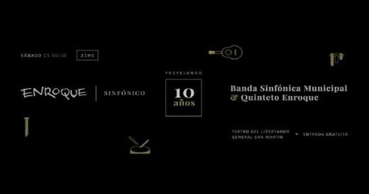 Enroque celebra 10 años junto a la Banda Sinfónica Municipal
