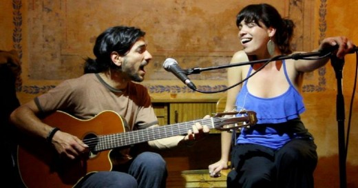 Yaíma Orozco y Migue de la Rosa en vivo