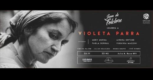 La Jam de Folclore celebra a Violeta Parra