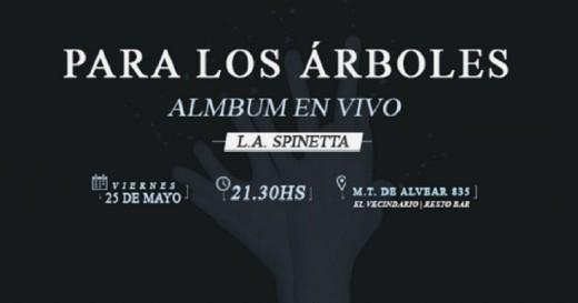 """Álbum en Vivo: """"Para los Árboles"""""""