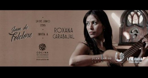 La Jam de Folclore invita a Roxana Carabajal