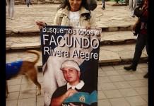 Concentración por la aparición de Facundo Alegre