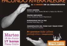 Concentración a 16 meses de la desaparición de Facundo Rivera Alegre