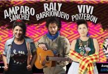 Amparo Sánchez, Raly Barrionuevo y Vivi Pozzebón en vivo