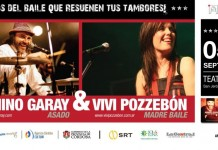 Minino Garay y Vivi Pozzebon en el Real