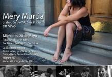 """Mery Murúa graba en vivo """"Sal"""", su nuevo trabajo."""