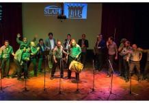 Ellos y Quinteto Slap! en el Salón de Actos