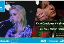 Cci Kiu y Marian Pellegrino en concierto