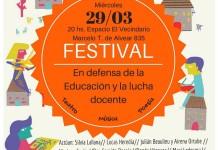 Festival en defensa de la educación pública y la lucha docente