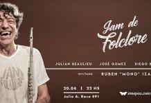 La Jam de Folklore y Mono Izarrualde en vivo
