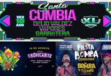 Santa Cumbia, Fiesta Tropicante y Fiesta Bomba en Córdoba
