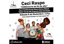 "Ceci Raspo presenta ""Corocierto de Fin de Año"""