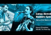 Lucas Heredia y Ramiro González en vivo