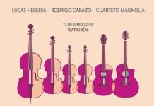 Lucas Heredia, Rodrigo Carazo y Magnolia en concierto