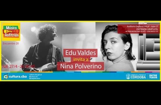 Edu Valdés y Nina Polverino en concierto